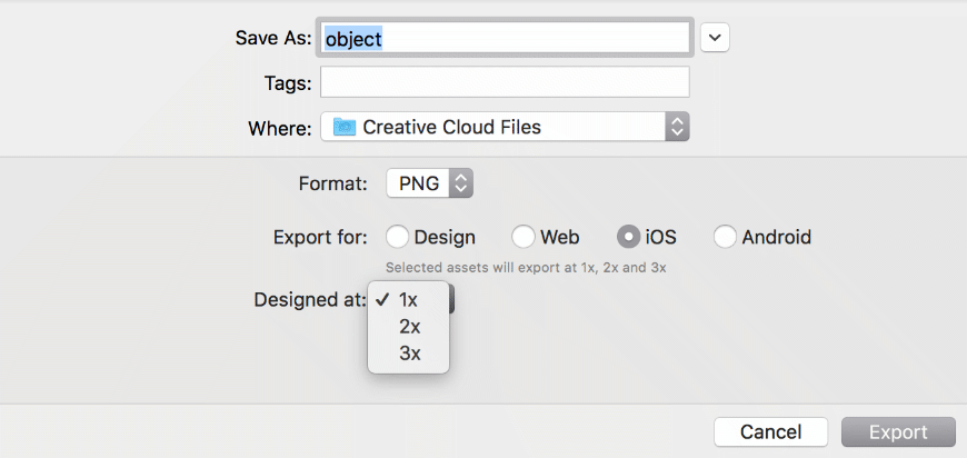 Adobe XD review of how to export designs